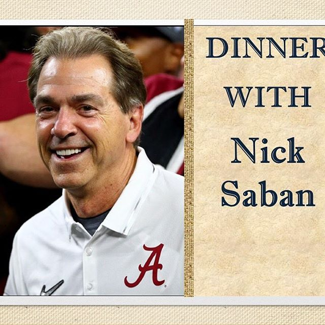 DINNER WITH NICK SABAN Live Auctioned at the VOICE FORhellip
